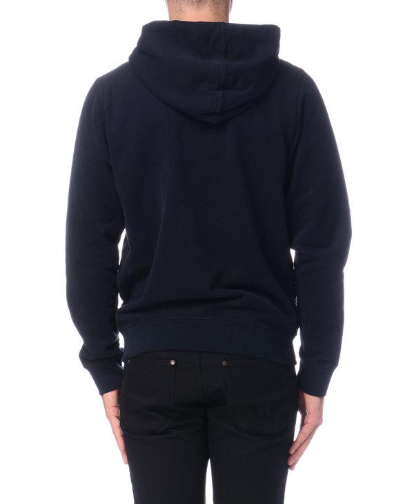 Black Cotton Zip Hoodie