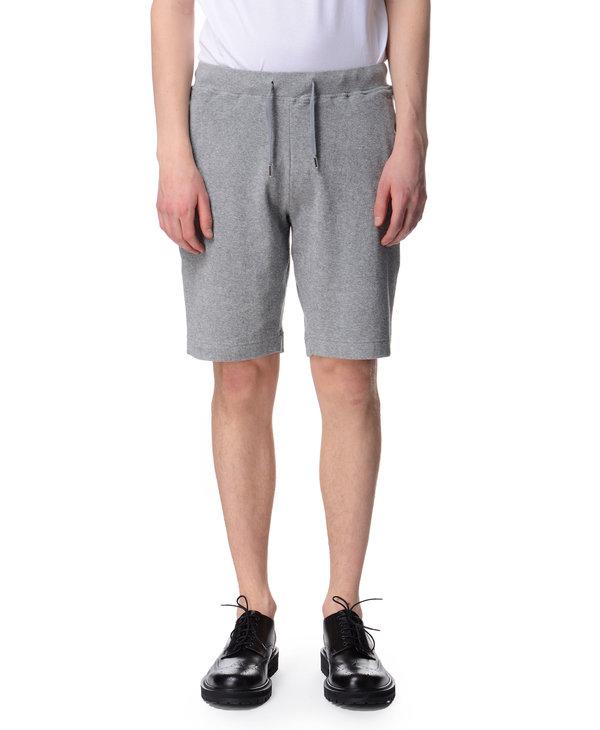 Short en coton éponge gris