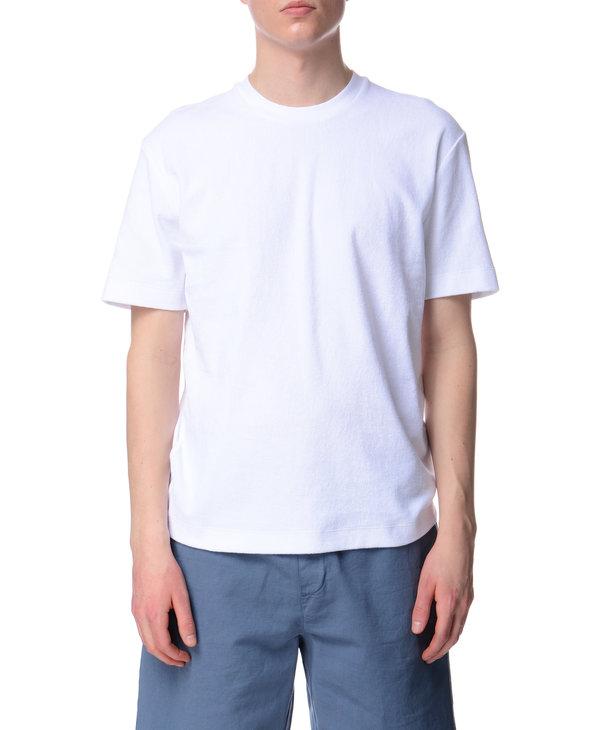 T-shirt blanc en coton éponge