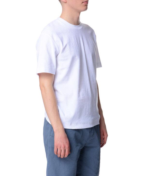 T-shirt à col montant blanc