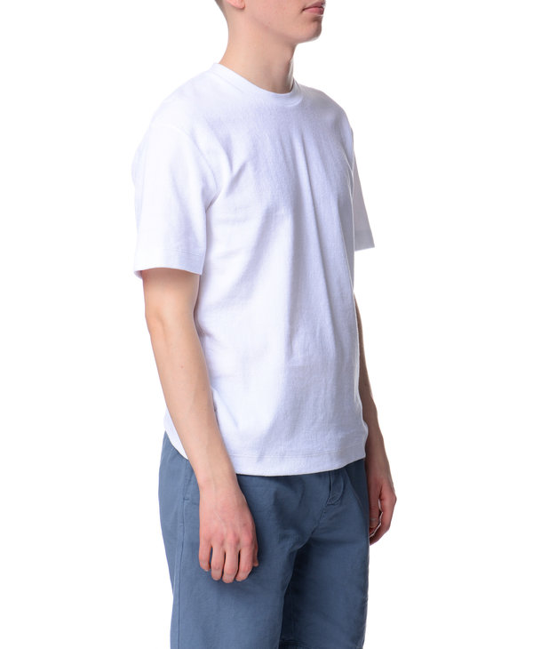 White Mock Neck T-Shirt