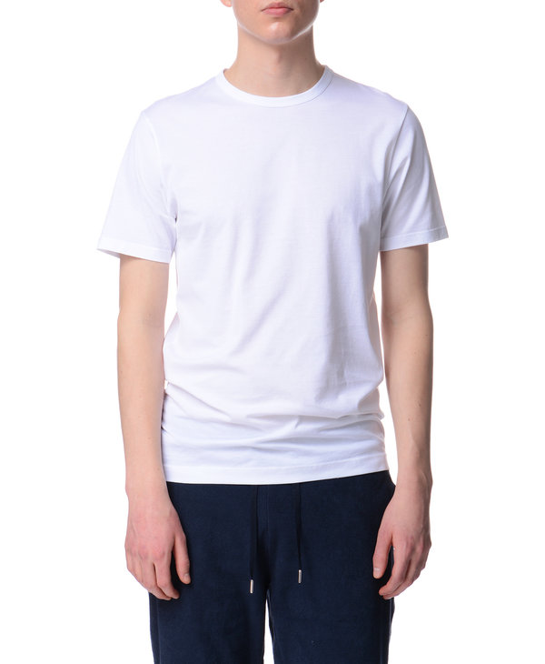 T-shirt à col rond blanc