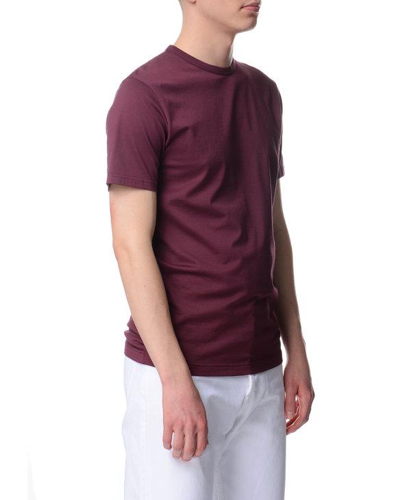 T-Shirt à col rond Burgundy