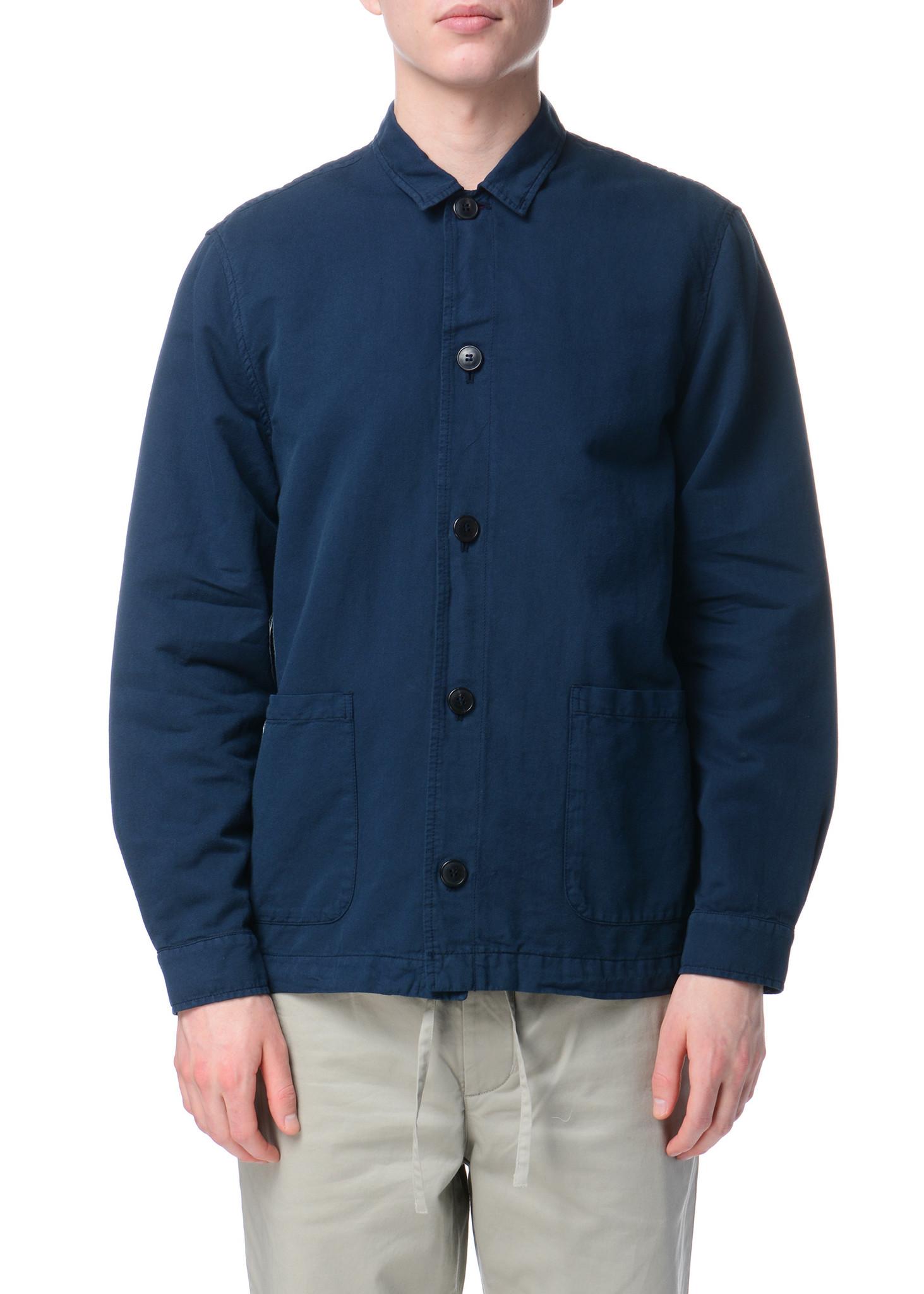 Navy Long Sleeve Overshirt