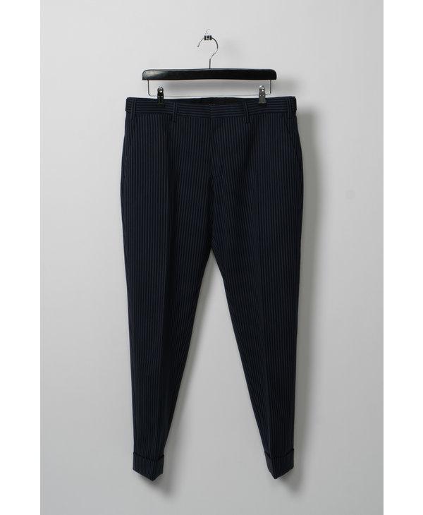 Navy & White Pinstripe Trousers