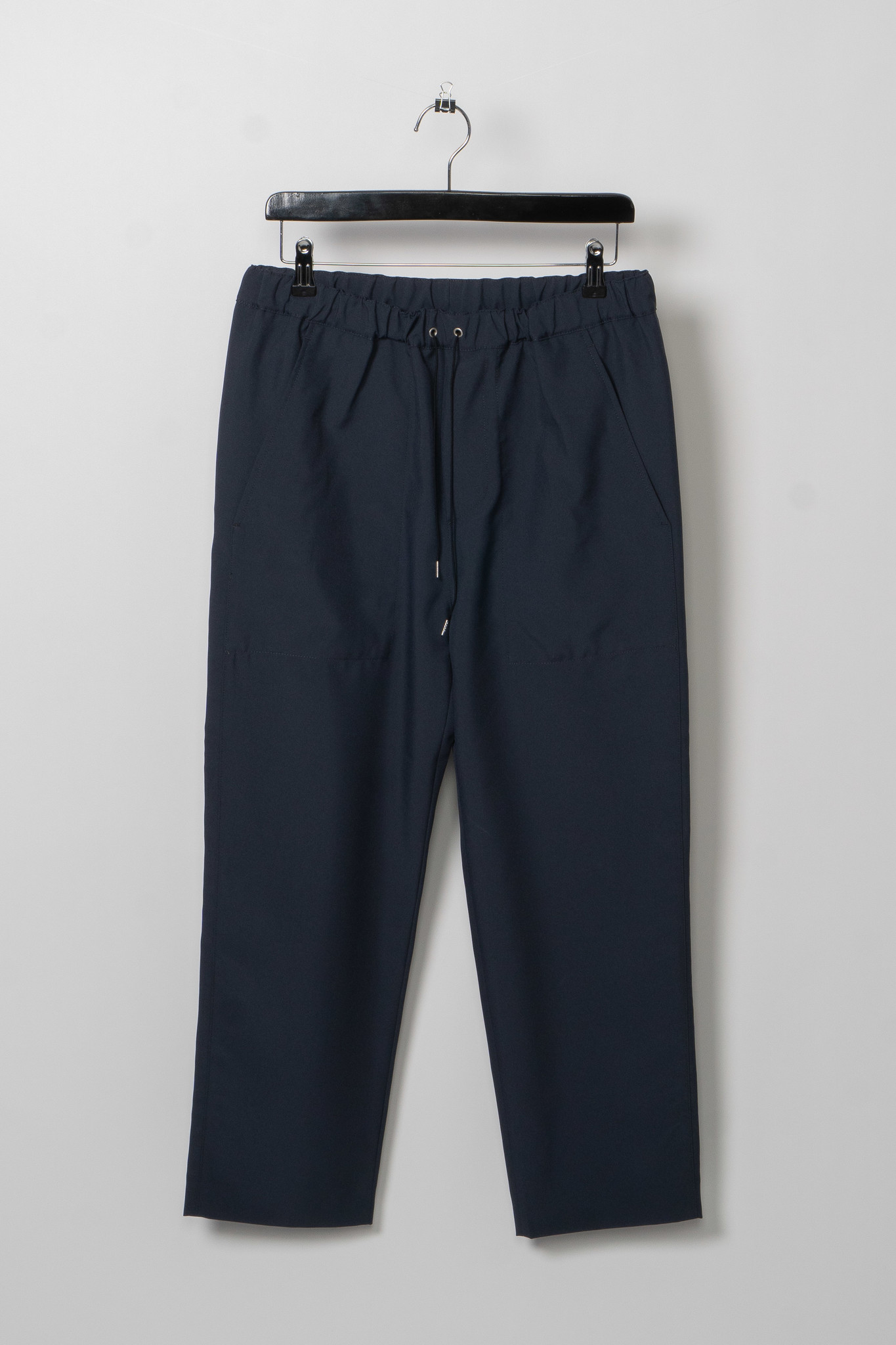 Blue Cropped Drawcord Trousers
