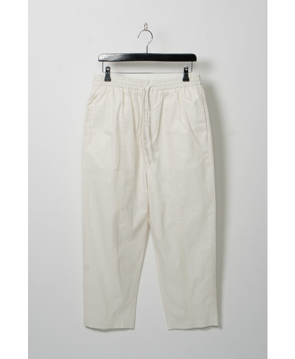 White Straight Cropped Trousers