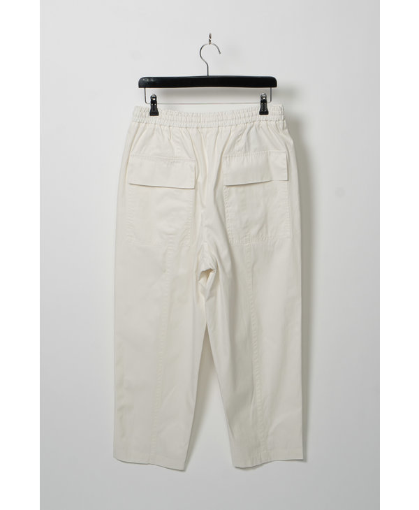 Pantalon Droit Écourté Blanc
