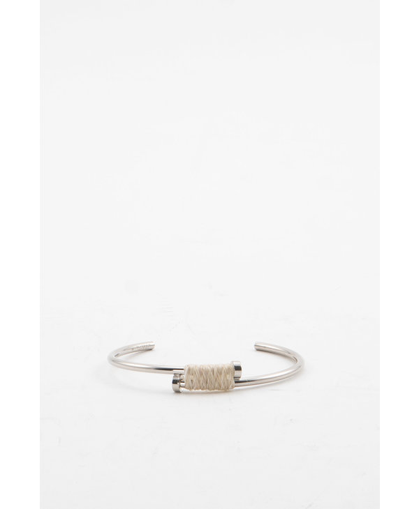 Bracelet argenté Wrap Nail