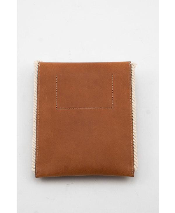Brown Flat Crossbody Bag
