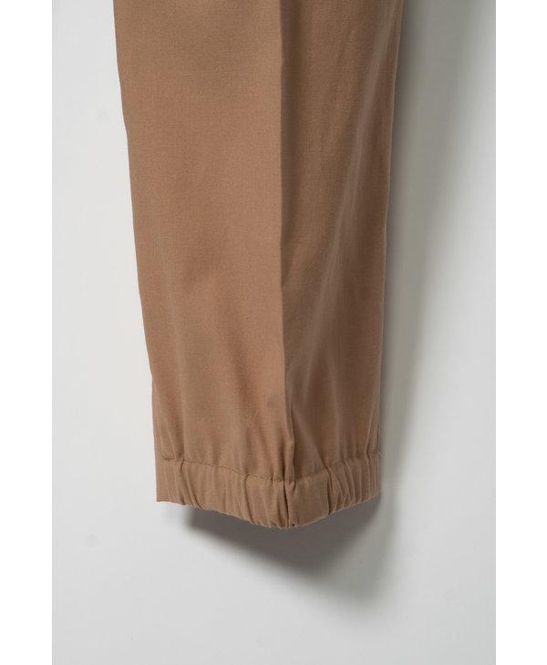 Pantalon en Coton Beige