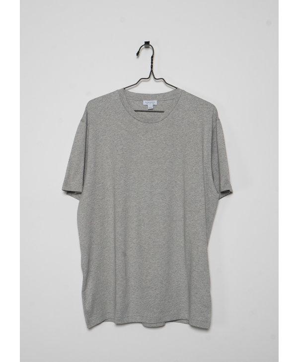 T-Shirt à Col Rond Gris