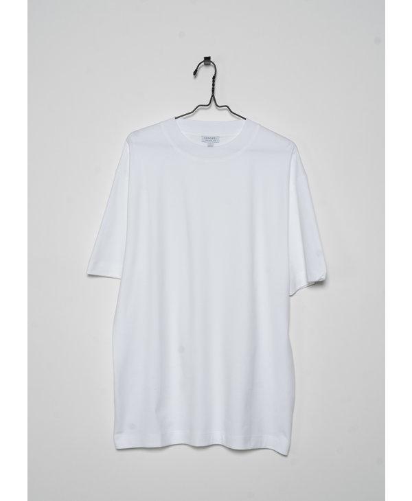 White Brushed Mock Neck T-Shirt
