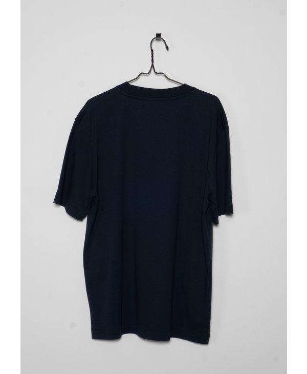 Navy Brushed Mock Neck T-Shirt