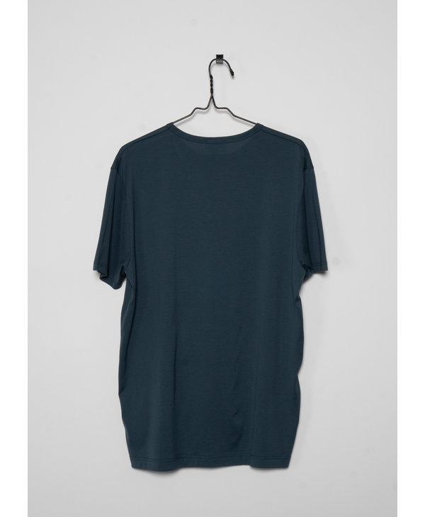 T-Shirt à Col Rond Vert