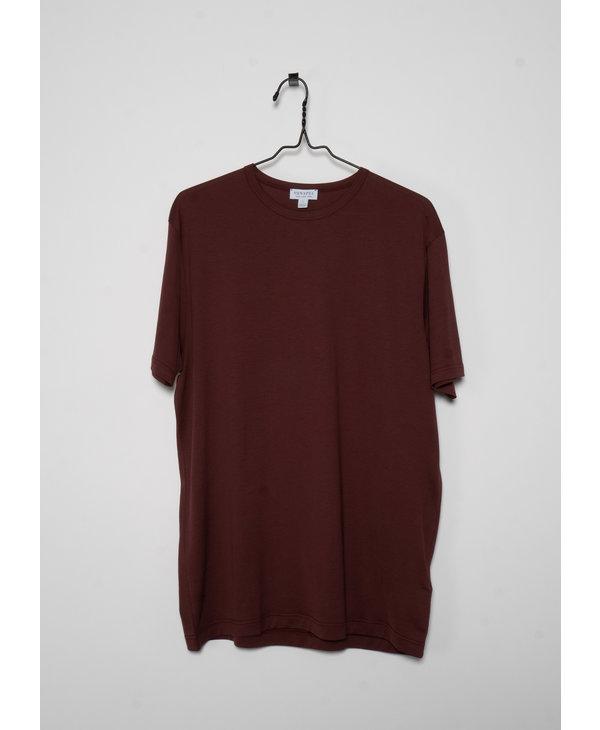 Burgundy Crewneck T-Shirt