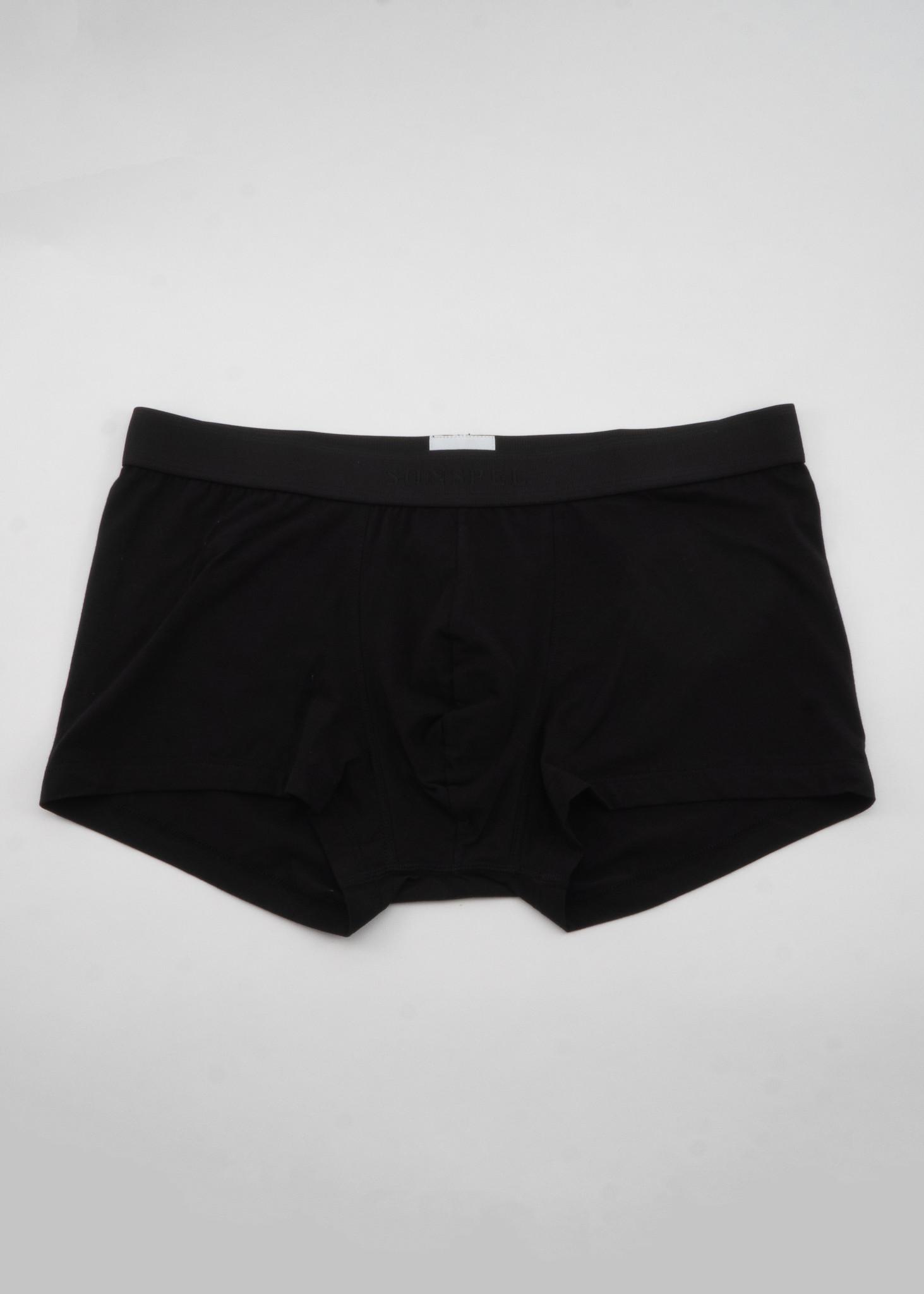 Black Stretch Cotton Trunks