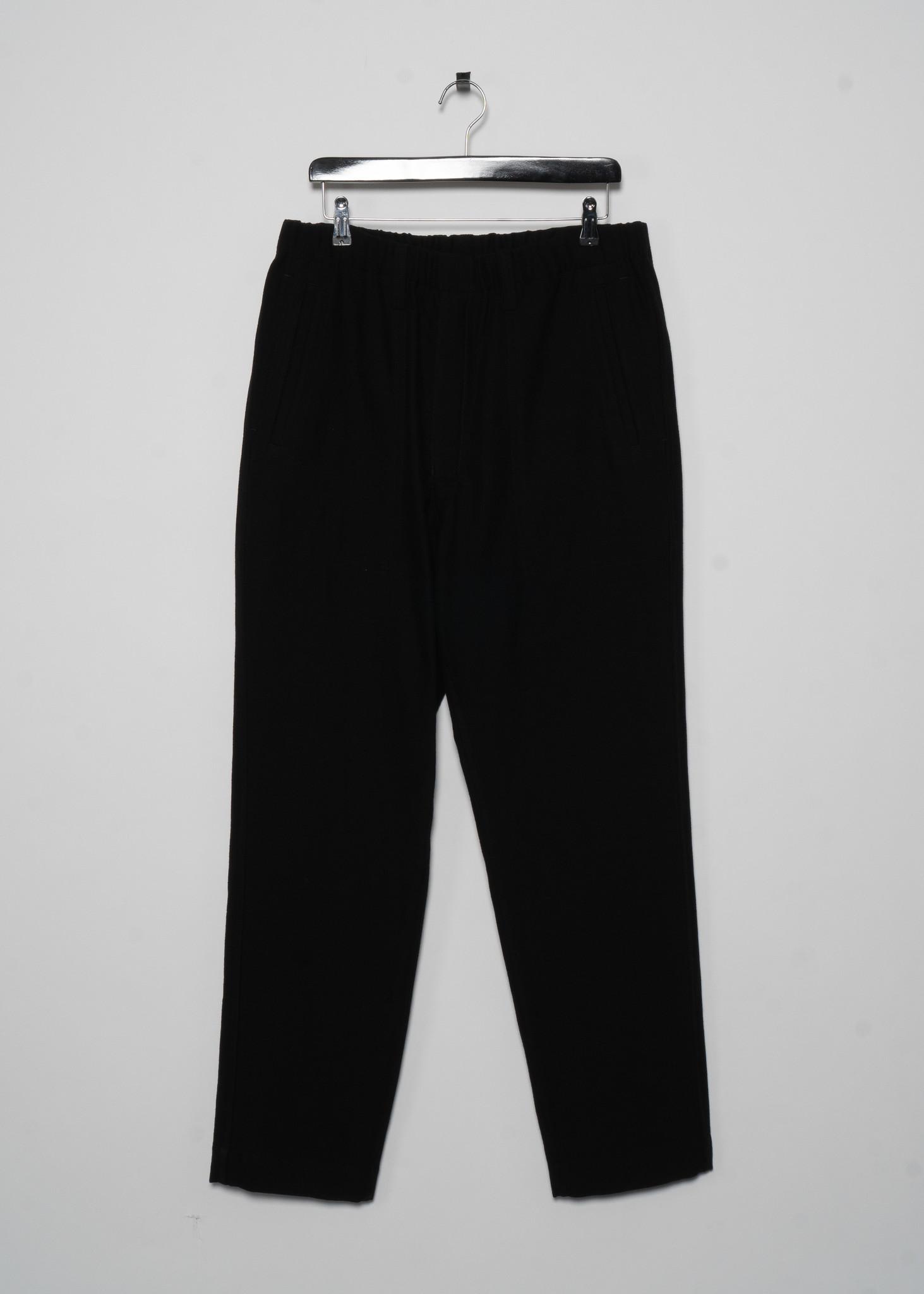 Pantalon Noir avec Taille Élastique