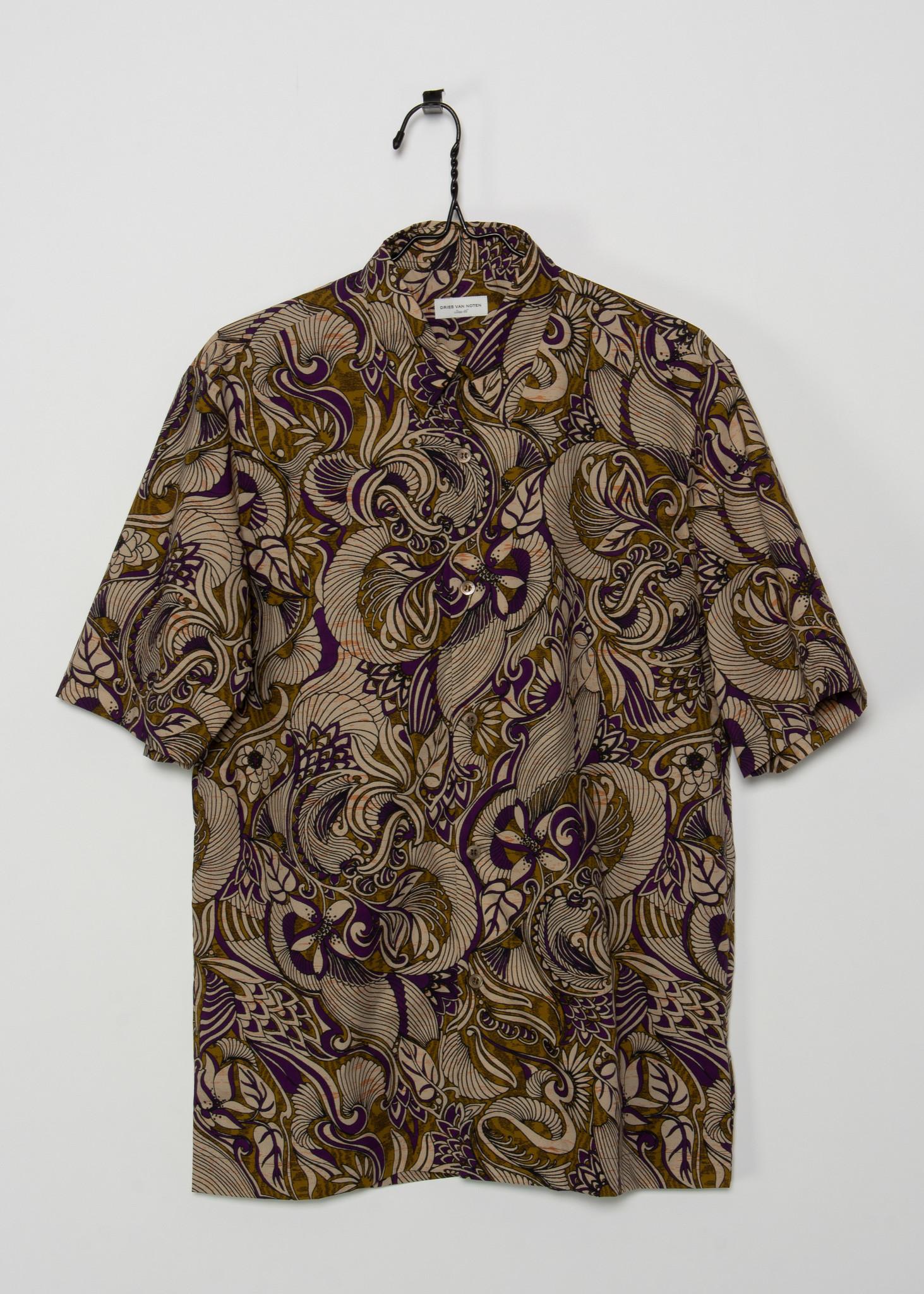 Purple & Gold Short Sleeve Shirt