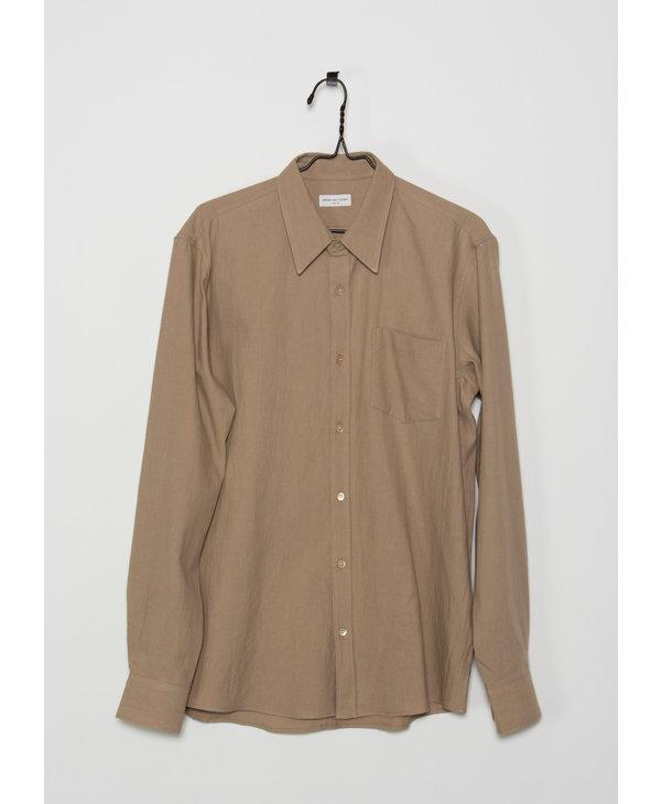 Beige Cotton Flannel Shirt