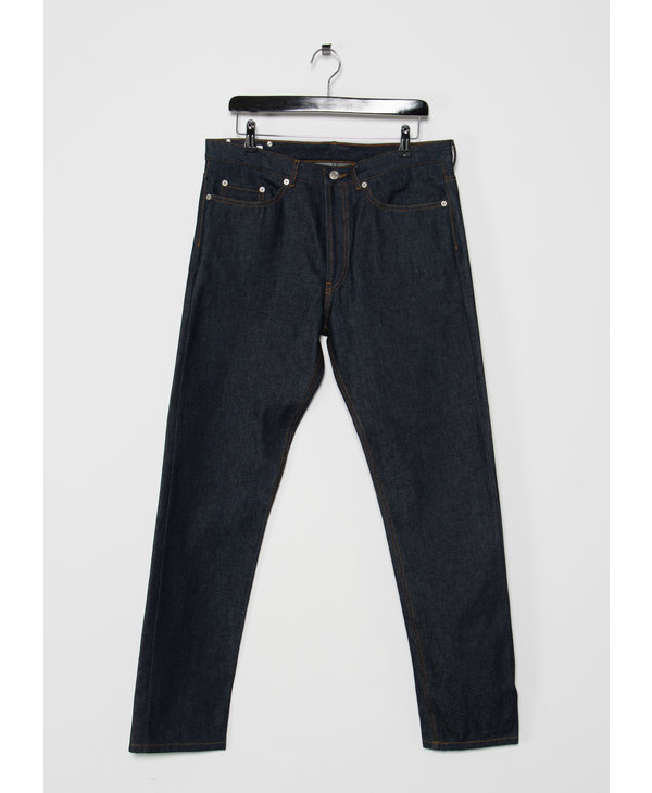 Indigo Raw Straight Leg Jeans