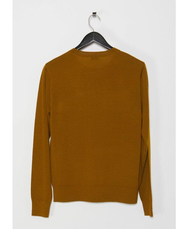 Yellow Long Sleeves Merino Knit
