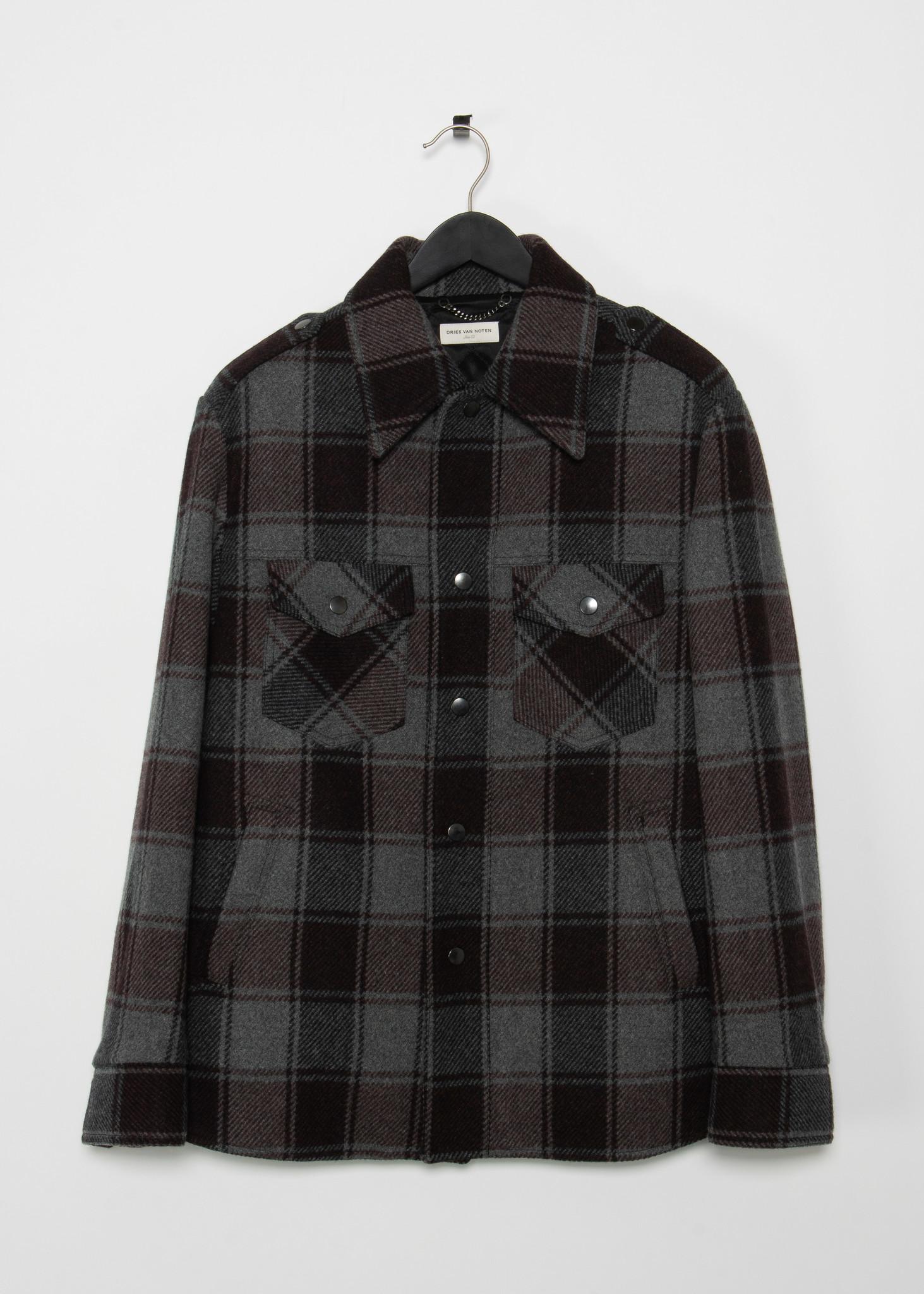 Grey Wool Check Jacket