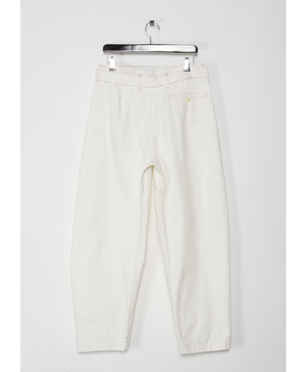 White Twisted Pants