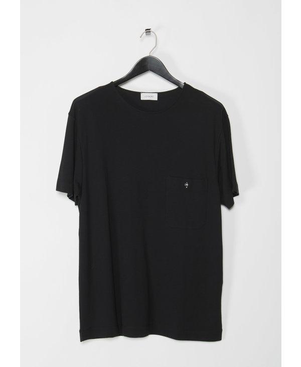 Black Crepe Jersey T-Shirt