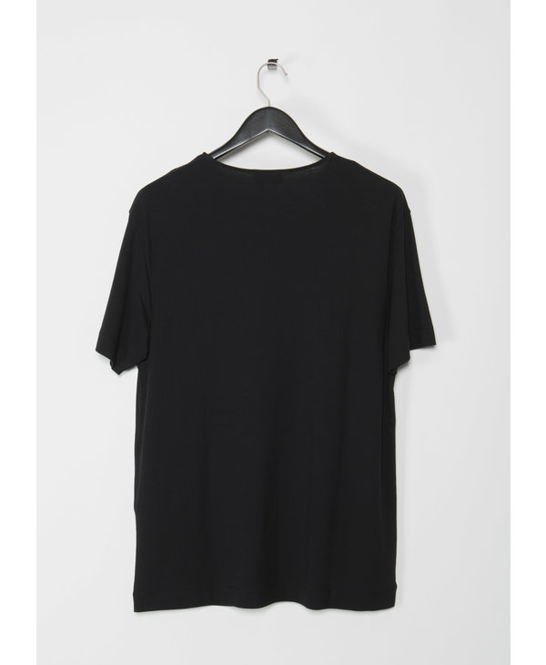 T-Shirt Noir en Jersey Crêpe