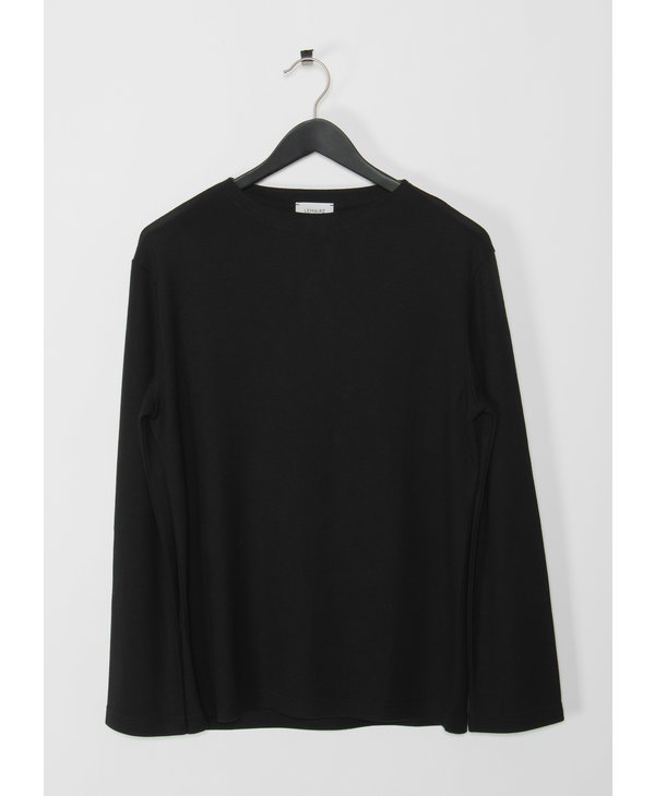 Black Long Sleeves Felted T-Shirt