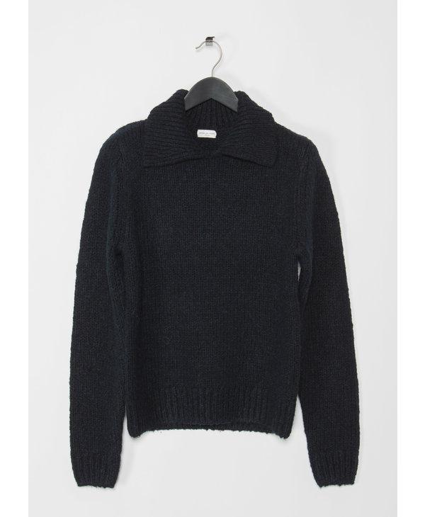 Navy Polo Colar Sweater