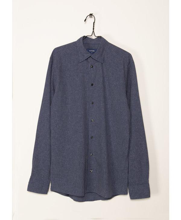 Blue Cotton-Linen shirt