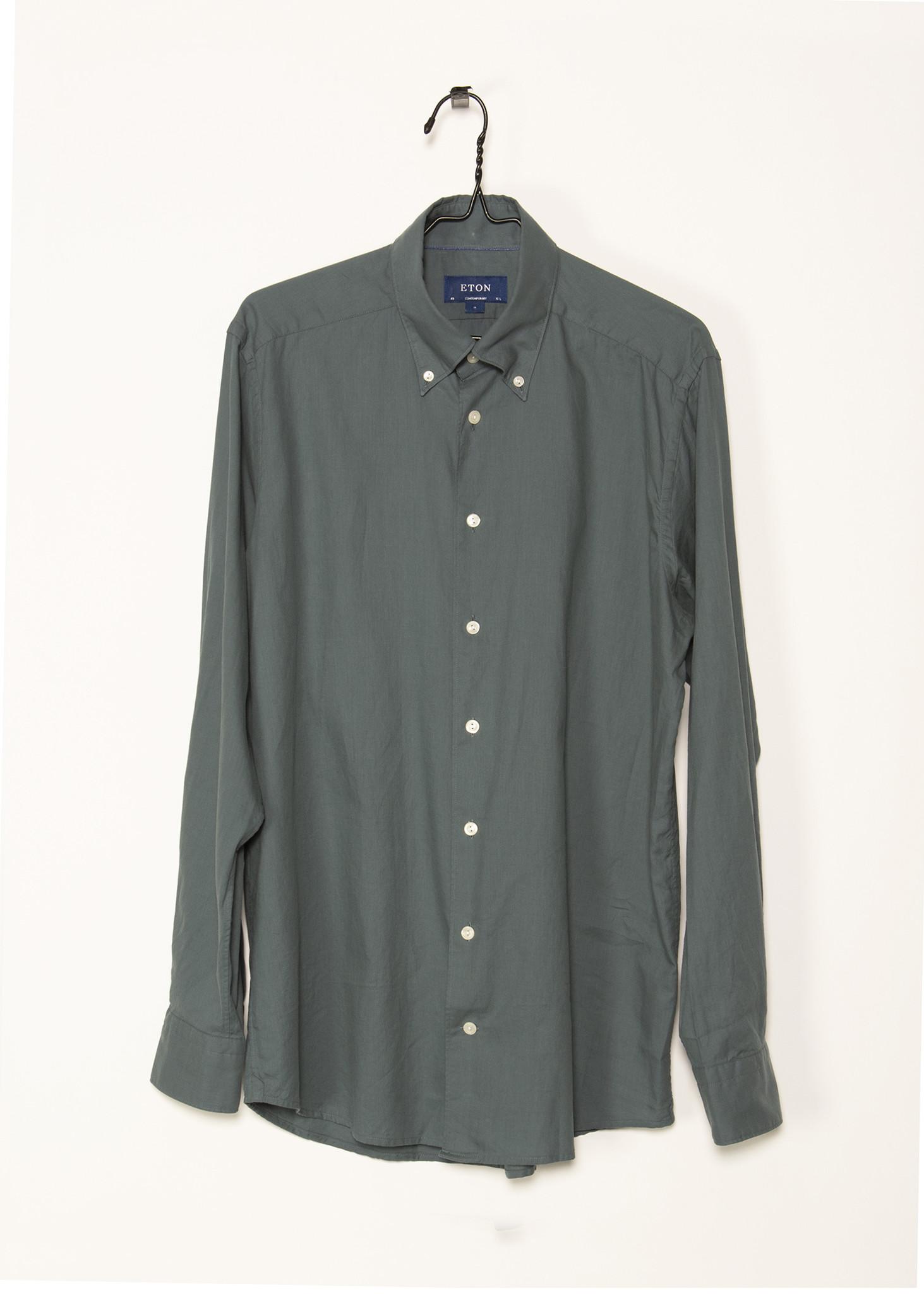 Green Lightweight Flannel Shirt