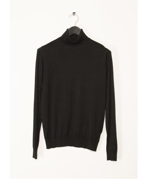 Black Roll Neck Hawley Pullover