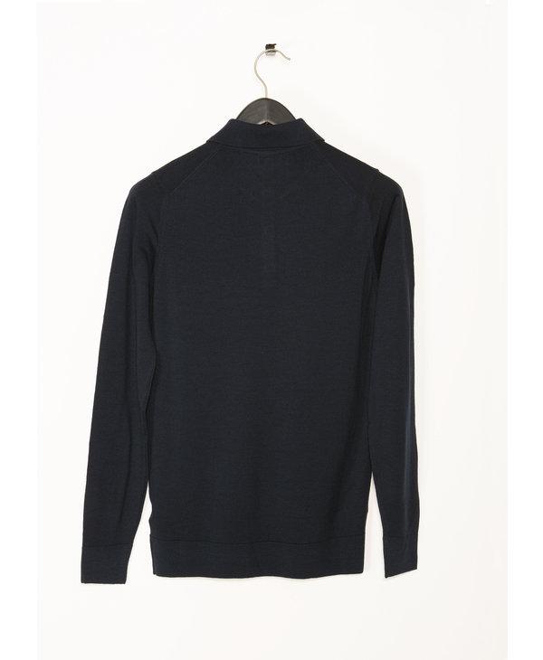 Blue Long Sleeves Polo