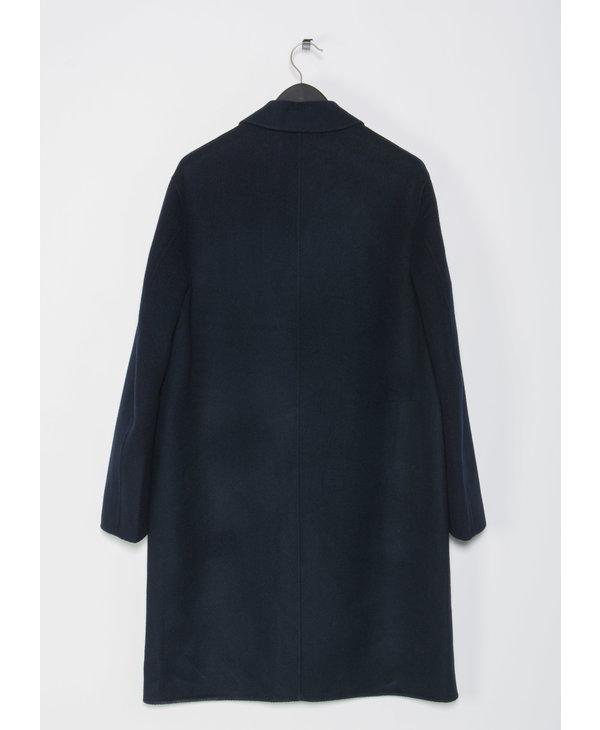 Blue Dali Twill Double Coat