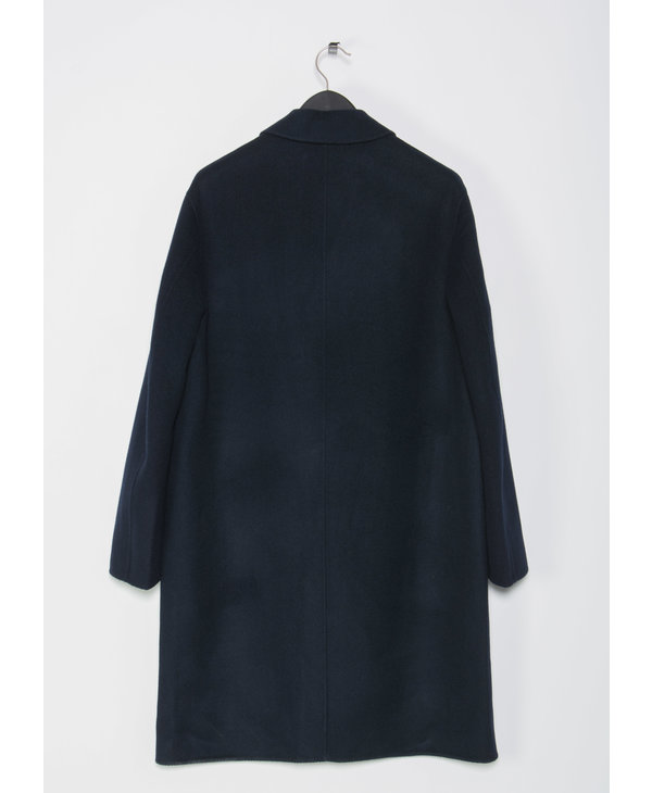 Manteau Dali Twill Double Bleu