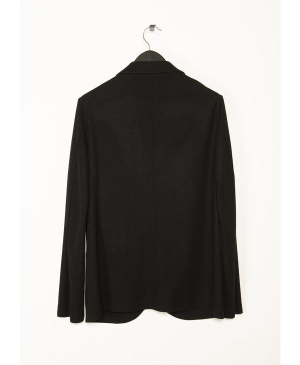 Black Standing Collar Blazer