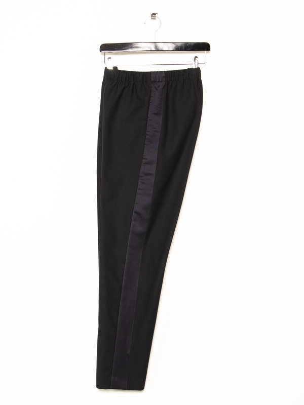 Dries Van Noten Navy Tape Trousers