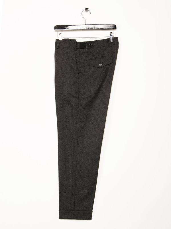 Dries Van Noten Pantalon à Revers Gris
