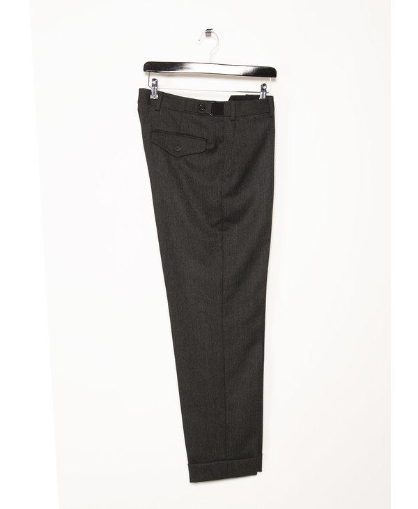 Pantalon à Revers Gris