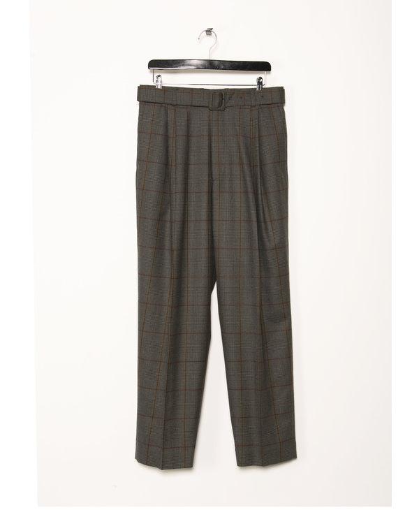 Grey Plaid Trousers