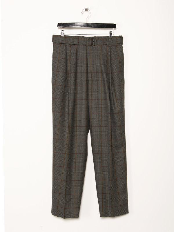 Dries Van Noten Grey Plaid Trousers