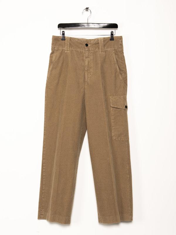 Dries Van Noten Camel Corduroy Trousers