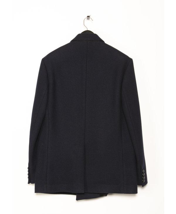 Navy Short Wool Coat