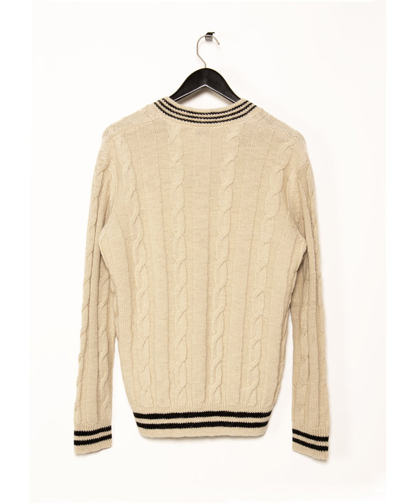 Cream V-neck Sweatshirt
