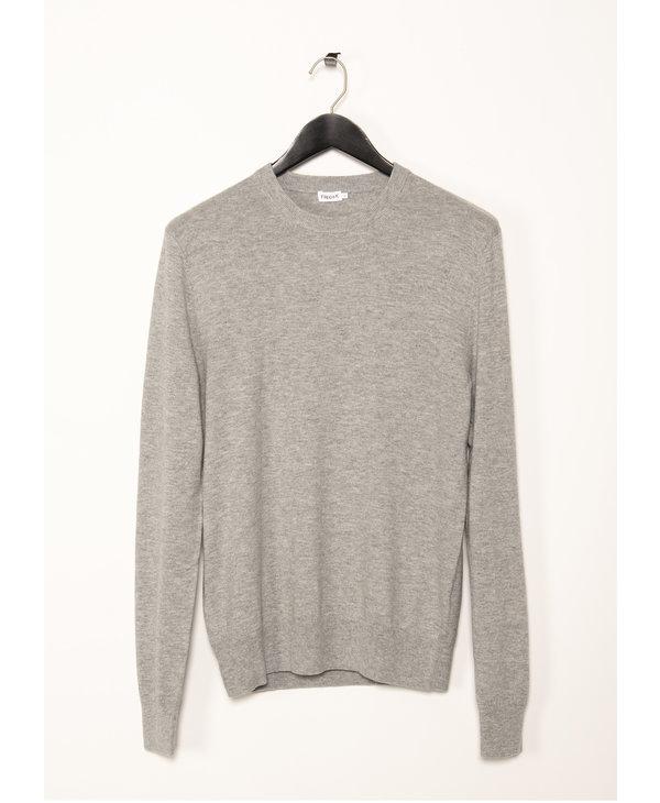 Grey Cotton Merino Sweater