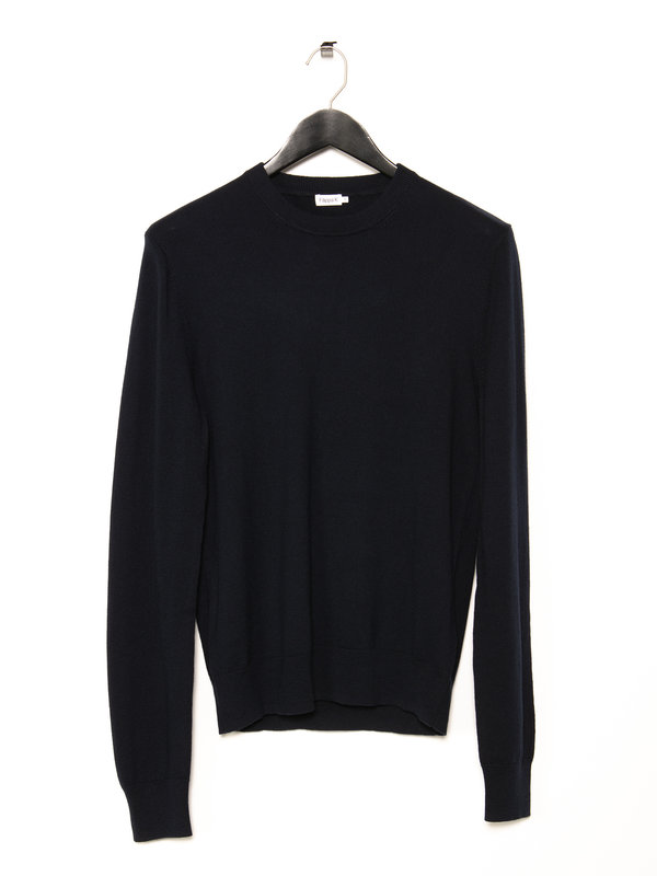 Filippa K Navy Cotton Merino Sweater