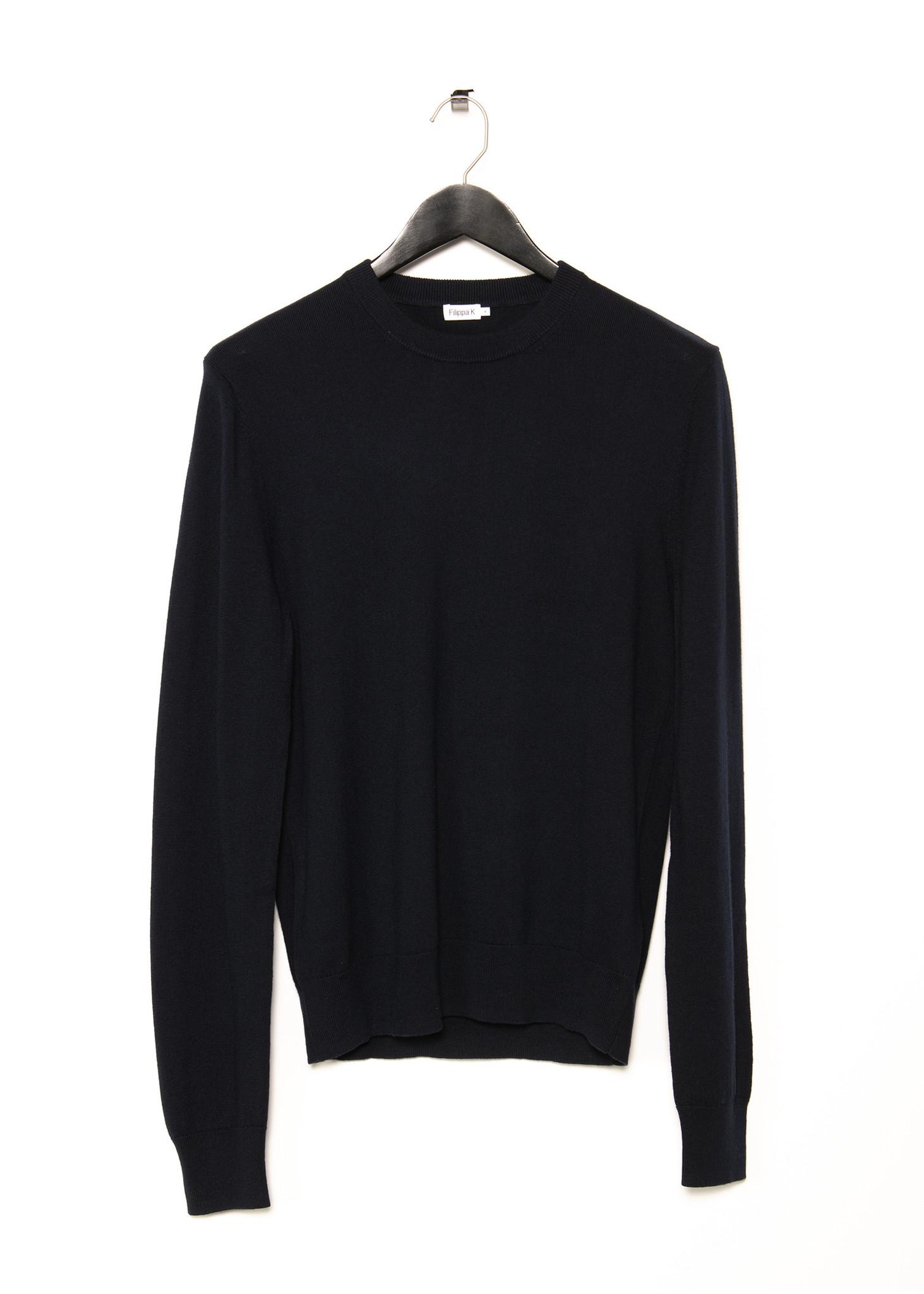 Navy Cotton Merino Sweater